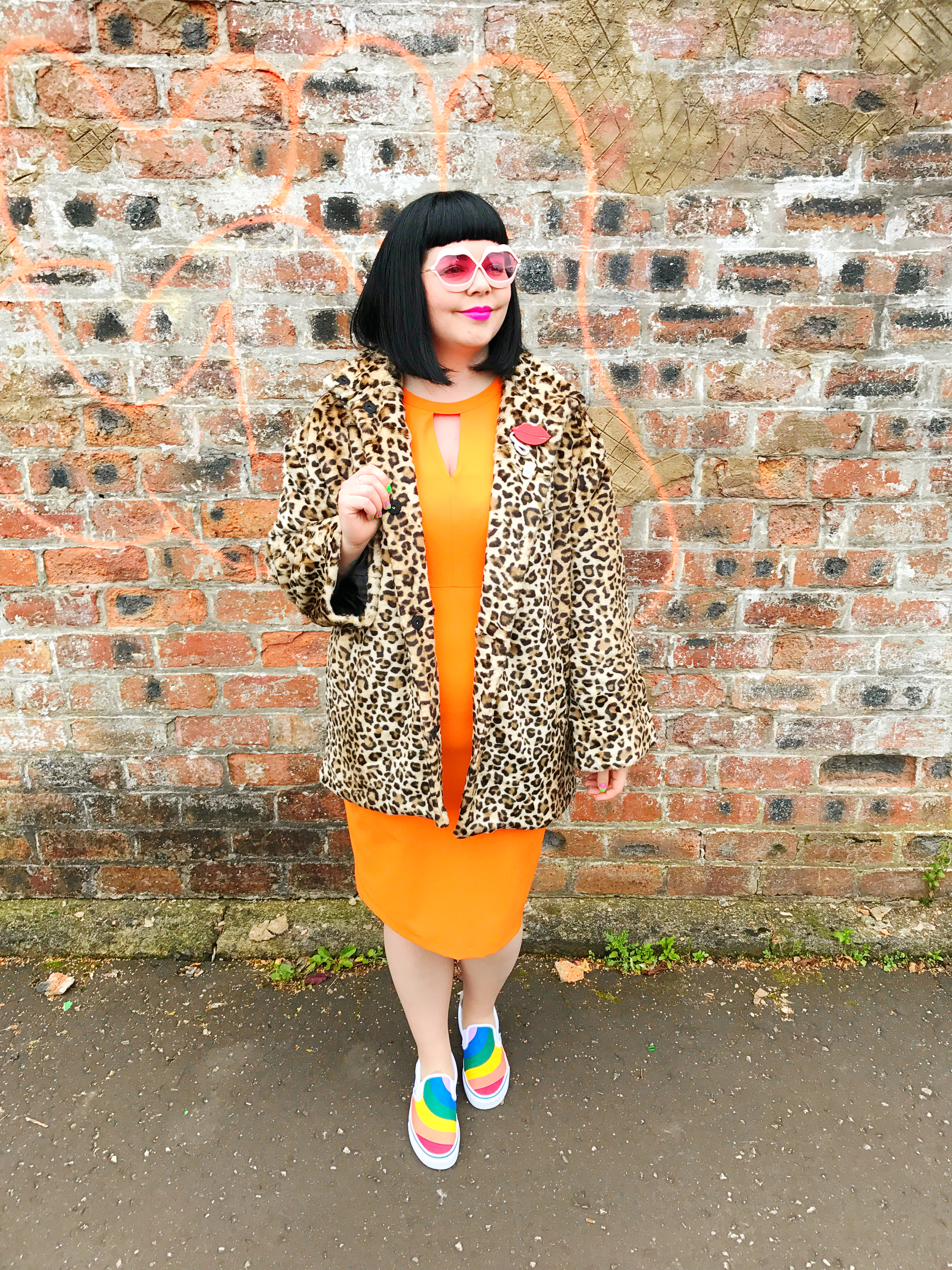Wrapped up for Autumn in a Leopard Print Coat
